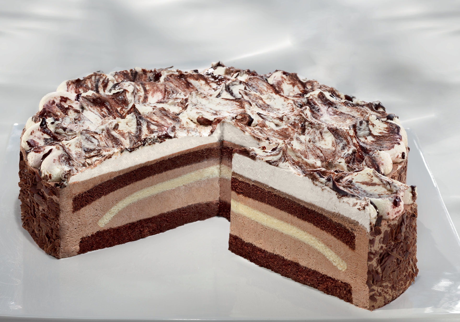 Chocolate Cream Gateau unsliced