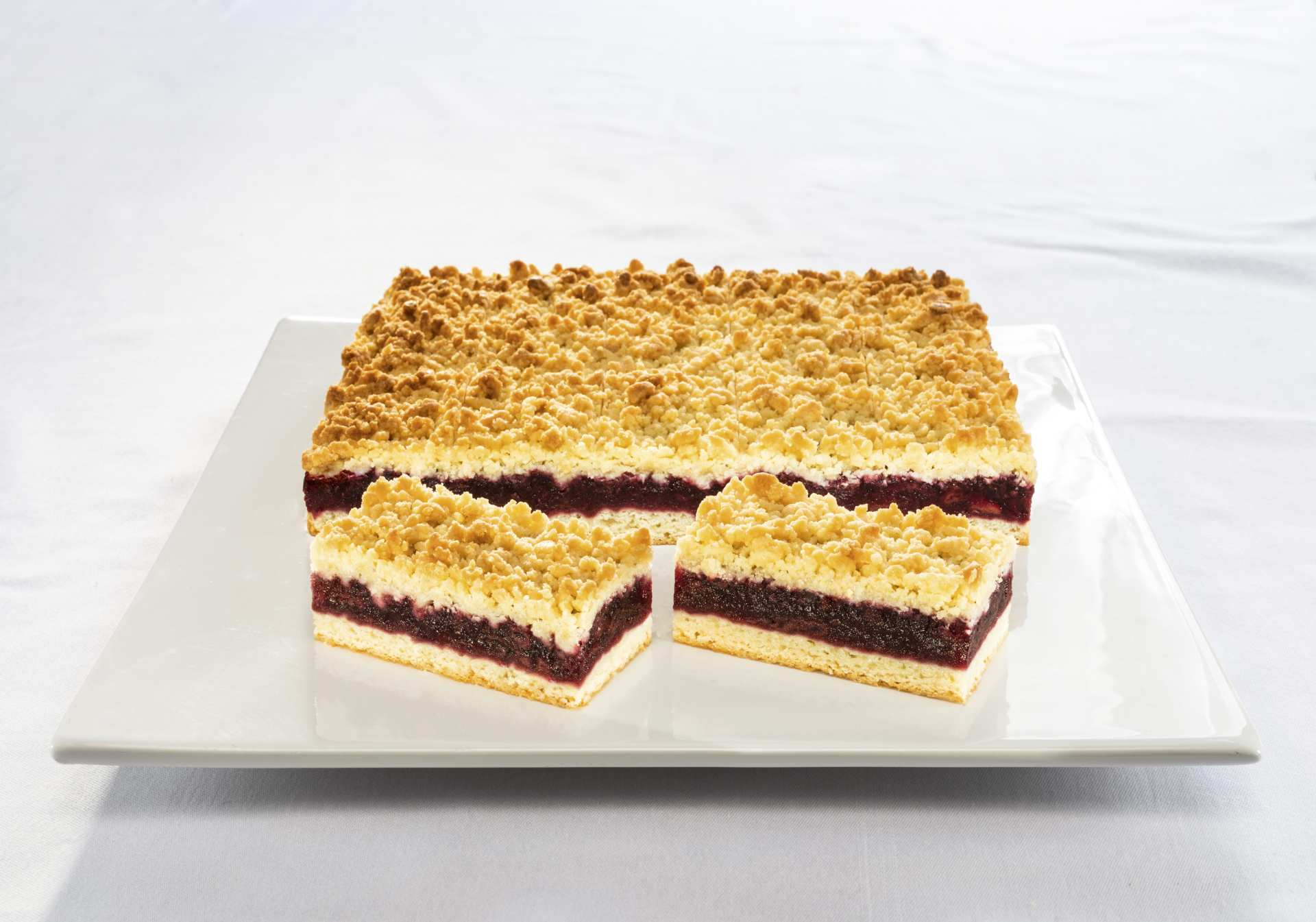 Cherry Butter Crumble Slice