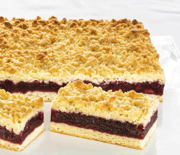 Cherry Crumble Slice