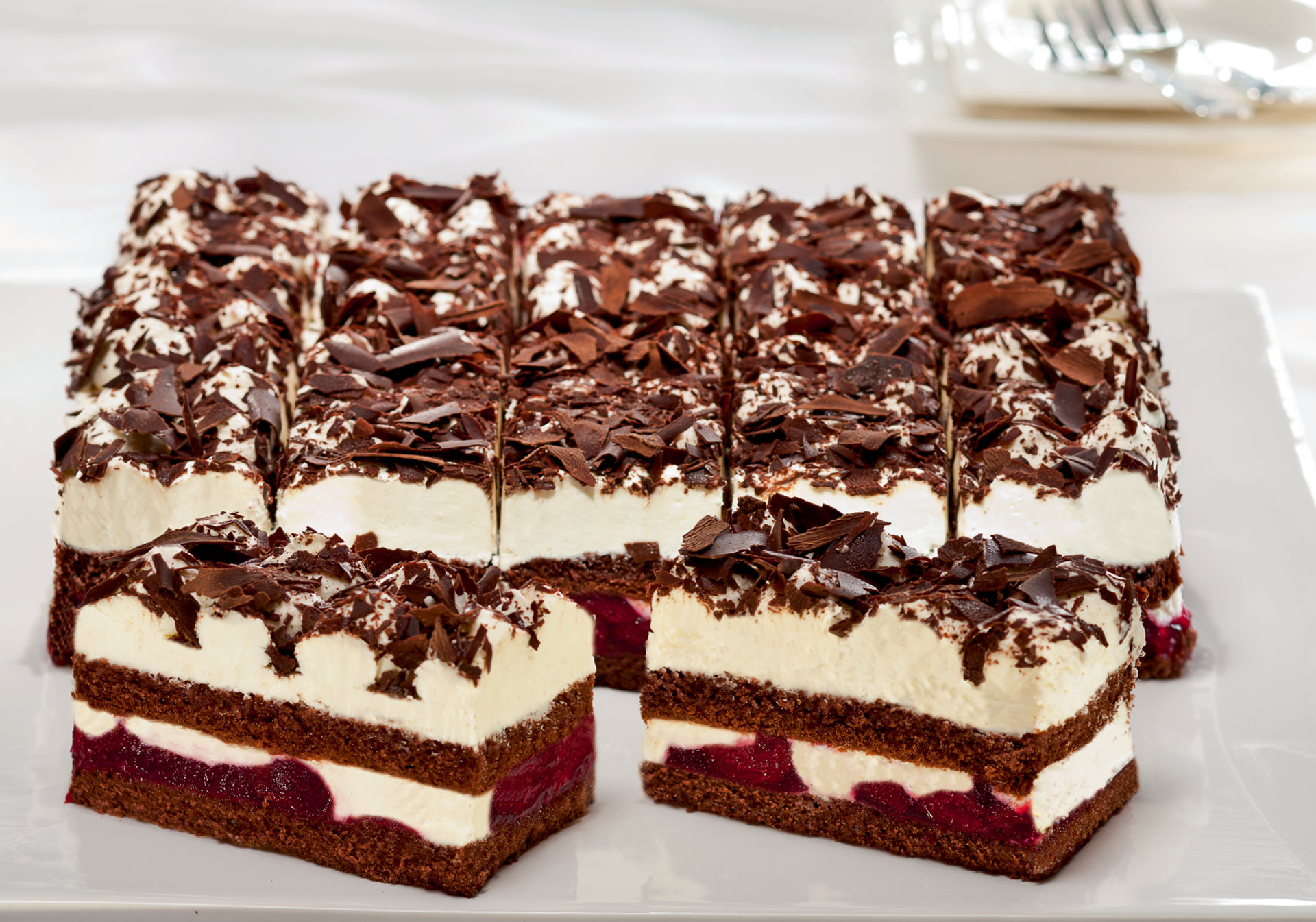 Black forest cream slice