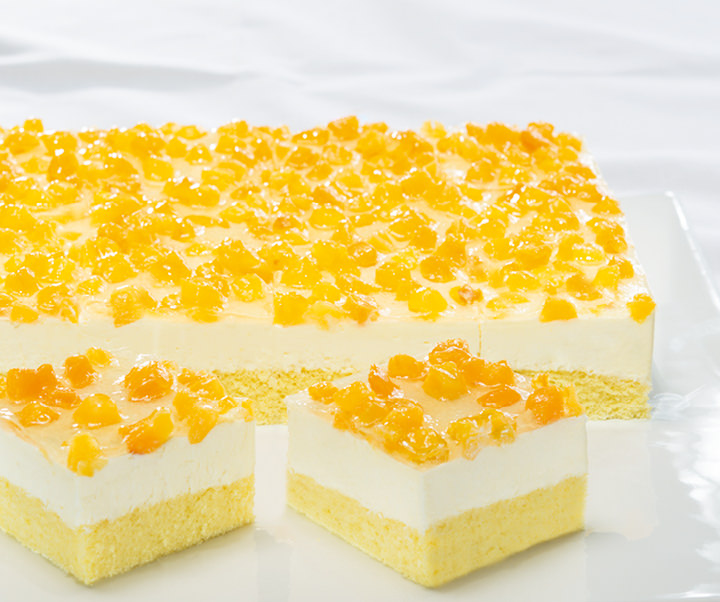 Peach cream slice, lactose-free